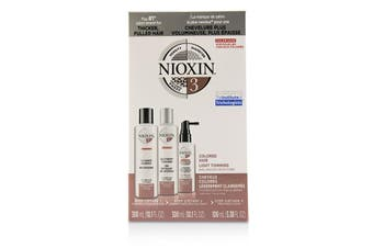 Nioxin 3D Care System Kit 3 - For Colored Hair  Light Thinning  Balanced Moisture 3pcs