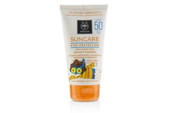 Apivita Suncare Kids Protection Face & Body Milk SPF 50 With Apricot & Calendula 150ml/5oz