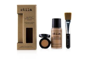 Stila Stay All Day Foundation  Concealer & Brush Kit - # 4 Beige 2pcs
