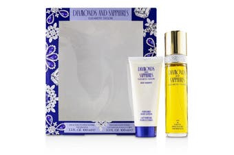 Elizabeth Taylor Diamonds & Sapphires Coffret: EDT Spray 100ml/3.3oz + Perfumed Body Lotion 100ml/3.3oz 2pcs