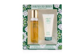 Elizabeth Taylor Diamond & Emerald Coffret: EDT Spray 100ml/3.3oz + Perfumed Body Lotion 100ml/3.3oz 2pcs