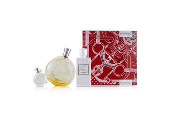 Hermes Eau Des Merveilles Coffret: EDT Spray 100ml/3.3oz + Moisturizing Body Lotion 80ml/2.7oz + EDT 7.5ml/0.25oz 3pcs