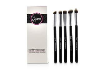 Sigma Beauty Sigmax Precision Kit Professional Brush Collection - # Black 5pcs
