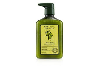 CHI Olive Organics Hair & Body Shampoo Body Wash (For Hair and Skin) 340ml/11.5oz