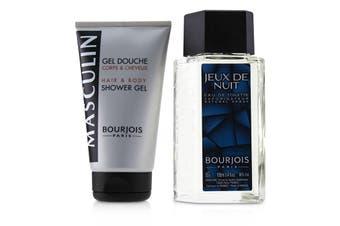 Bourjois Masculin Coffret: Jeux De Nuit EDT Spray 100ml/3.3oz + Hair & Body Shower Gel 150ml/5oz 2pcs