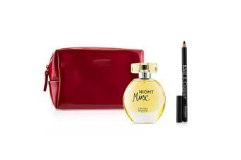 Bourjois Night Muse Coffret: EDP Spray 50ml/1.6oz + Khol & Contour Eyeliner Pencil - #001 Noir-Issime 1.2g/0.04oz + Glossy Bag 2pcs+1Bag