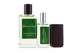 Atelier Cologne Jasmin Angelique Coffret: Cologne Absolue Spray 100ml/3.3oz +  Cologne Absolue Refillable Spray 30ml/1oz + Leather Case 3pcs