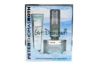 Peter Thomas Roth Get Drenched 3-Piece Kit: Cleanser 30ml + Hyaluronic Cloud Serum 15ml + Hydrating Moisturizer 50ml 3pcs