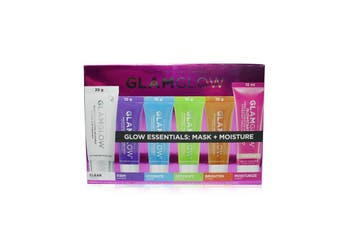 Glamglow Glow Essentials: Mask + Moisture Set: Supermud + GravityMud + Thirstymud + PowerMud + FlashMud + Glowstarter Nude Glow 6pcs