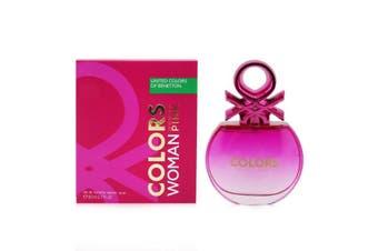 Benetton Colors Pink EDT Spray (New Version) 80ml/2.7oz