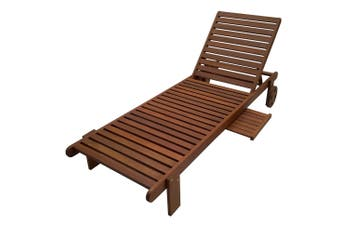 Outdoor Sun Lounger with Extendable Tray