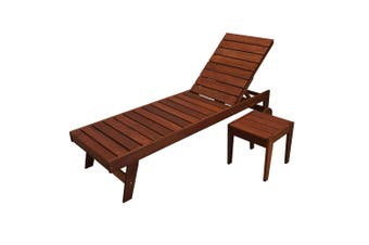 Lazio Sun Lounger with Side Table Set