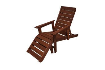 Lazio Outdoor Chair Deck Chair with Bonus Ottoman