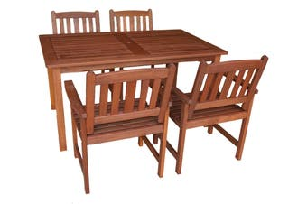 Malay 1.5m 5 Piece Outdoor Dining Set