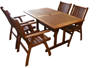 Tropical 1.5m 5 Piece Outdoor Dining Set