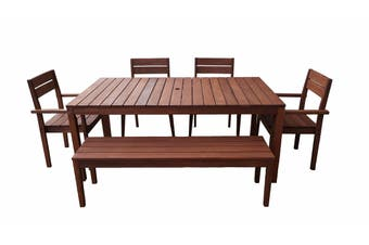 Supreme 1.8m 6 Piece Outdoor Dining Set