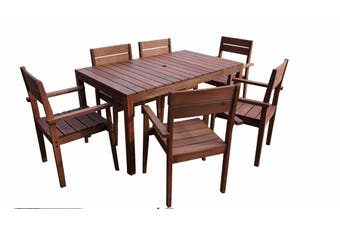 Supreme 1.5m 7 Piece Outdoor Dining Set