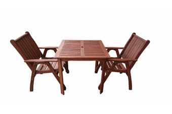 Standard Square 3 Piece Outdoor Dining Set