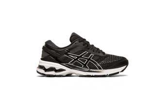 Asics Gel Kayano 26 Running Shoe - Standard - Womens US 8 - Black/White