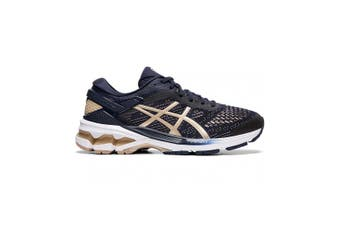 Asics Gel Kayano 26 Running Shoe - Wide (D) - Womens US 12 - Midnight/Frosted Almond