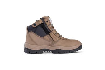 Mongrel Zipsider Safety Steel Toe Stone		Boots