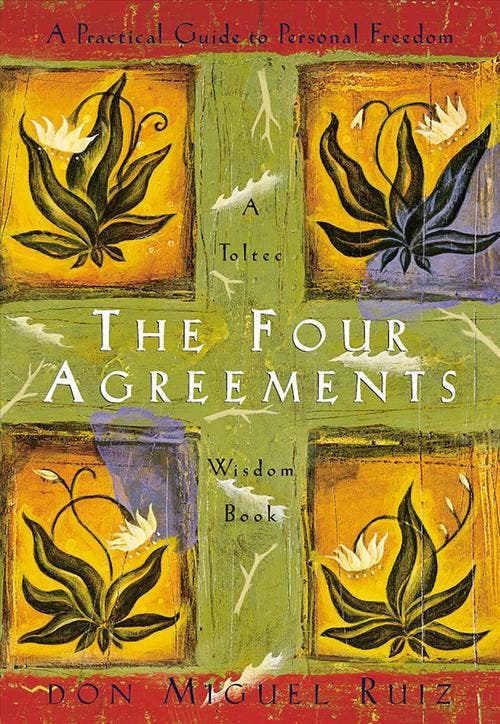 The Four Agreements: A Practical Guide to Personal Freedom In The Four Agreements, don Miguel Ruiz reveals the source of self-limiting beliefs that rob us of joy and create needless suffering. Based on ancient Toltec wisdom, the Four Agreements offer a powerful code of conduct that can rapidly transform our lives to a new experience of freedom, true happiness, and love.
