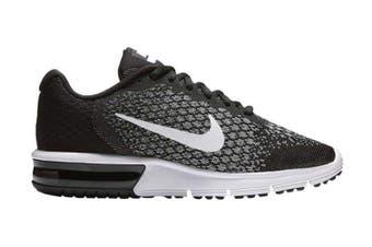 Nike Women's Air Max Sequent 2 Running Shoe (Black/Dark Grey/White) - US 5