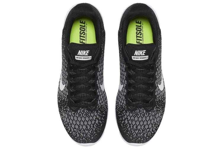 Nike Women's Air Max Sequent 2 Running Shoe (Black/Dark Grey/White) - US 7