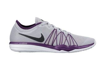 Nike Women's Dual Fusion TR HIT Training Shoe (Grey/Grape) - US 5.5