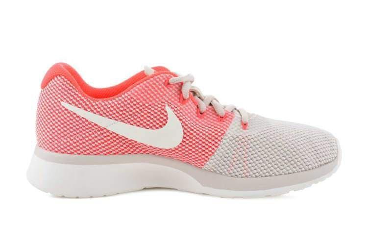 Nike Women's Tanjun Racer Running Shoe (Orewood Brown/Chrome/Solar Red) - US 6