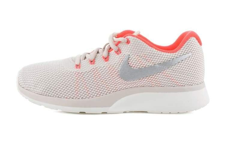 Nike Women's Tanjun Racer Running Shoe (Orewood Brown/Chrome/Solar Red) - US 6.5