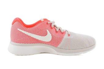 Nike Women's Tanjun Racer Running Shoe (Orewood Brown/Chrome/Solar Red) - US 8