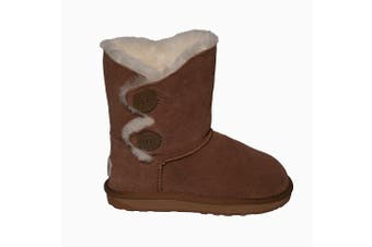 Bailey Ugg's 2 Button on Side - Chestnut