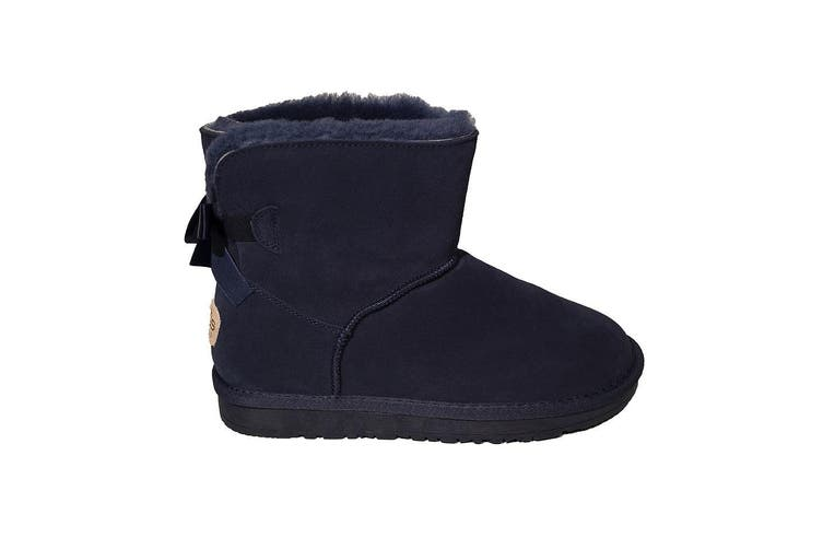 Mini Bow's Ugg Height 7 inch -Blue - 7
