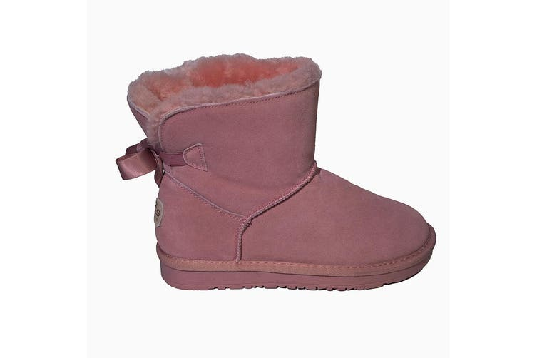 Mini Bow's Ugg Height 7 inch -Pink - 7