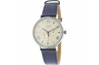 TIMEX - SOUTHVIEW 41MM SILVER BLUE LEATHER WATCH