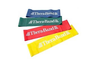 THERABAND PROFESSIONAL LATEX RESISTANCE BAND LOOP - 18 INCH - Red - Medium resistance (Intermediate)