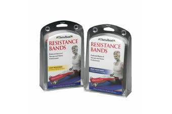 THERABAND RESISTANCE TUBING SET - Resistance Bands 2 piece - Heavy Resistance