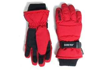 GORE-TEX Kids Snow Gloves -  Red - KIDS - L