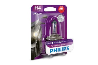 Philips CityVision Moto H4 P43T 60/55W Motorcycle Headlight Bulb