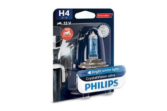 Philips CrystalVision Ultra Moto H4 P43T 60/55W Motorcycle Headlight Bulb