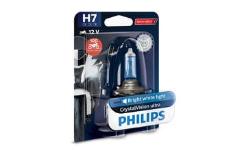 Philips CrystalVision Ultra Moto H7 PX26D 55W Motorcycle Headlight Bulb