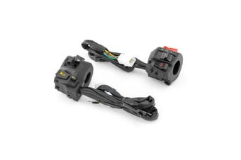 Black ABS Plastic Motorcycle Control Switch Set Combo Suits 22mm Handlebars