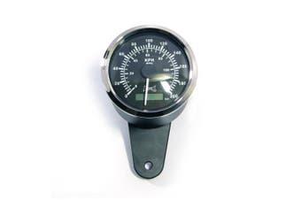 85mm Aluminium analog GPS Motorcycle Speedometer - Black/Chrome