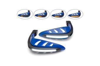 Blue LED Handguards with Daytime Running Lights/Indicators - White/Amber
