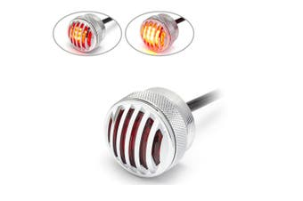 Chrome Flush Mount Mini Motorcycle Car Truck Stop / Tail Light Prison Grill