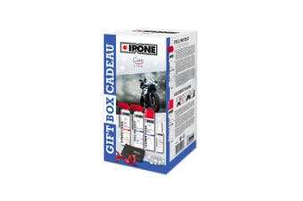 IPONE Motorcycle 5 in 1 Gift Box Pack - Chain Lubricant - Full Protect - Polish
