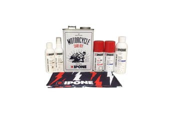IPONE Vintage Motorcycle Motorbike All round 7 in 1 Cleaning Care Tin Kit