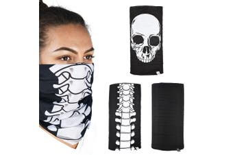 Oxford Comfy 3 Pack Skeleton Head Neck Windproof Face Mask Weather Protection