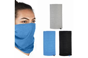 Oxford Comfy 3 Pack Blue/Black/Grey Head Neck Windproof Face Mask Protection